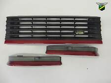 Range Rover P38 Front Grille & Lower Headlight Trim Eyebrow Set Rioja Red 601