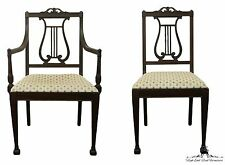 6 Antique 1920's French Louis XVI Lyre Back Dining Chairs