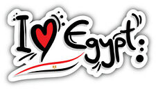 I Love Egypt Slogan Car Bumper Sticker Decal 6'' x 3''