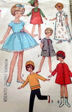"""GREAT VTG 1960s 8"""" DOLL CLOTHING SEWING PATTERN"""