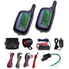 2-Way Car Vehicle Alarm System Remote Start Protection Security Keyless Entry