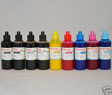 9X100ML Non-oem PIGMENT Ink Refill For Epson R2400 printer CIS CISS cartridge
