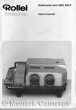 Instruction Book Manual for Rolleivision MSC300 P Slide Projector, Others Listed