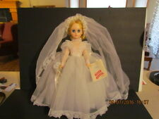 "17"" Blonde Elise Bride by Madame Alexander in Original Box with Doll Stand!"