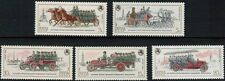 RUSSIA 1984 SC#5139-23 OLD  RUSSIAN FIRE TRUCKS 5 STAMPS MNH