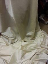 """1m tissu taffetas ivoire 58 """"wide"""