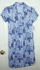 baby and me KOHLS NWT MATERNITY FLORAL PATCHWORK DRESS BLUE NAVY WHITE WOMENS S