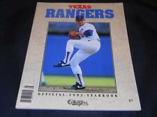 Texas Rangers Original Vintage 1992 Yearbook Nolan Ryan Cover RARE  JB10