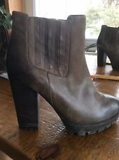 STEVE MADDEN GABRELLA FASHION ANKLE BLACK LEATHER BOOTIE SZ 10