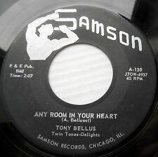 TONY BELLUS teen pop 45 ANY ROOM IN YOUR HEART b/w ONLY YOUR HEART   M-    F1889