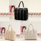 Fashion Women PU Leather Messenger Bag Tote Shoulder Bag Lace Handbag Elegant