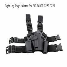 Airsoft Tactical Holster SIG SAUER P226 P229 w/ Magazine Torch Pouch Leg Thigh