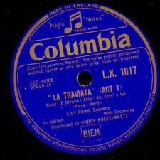 "Lily pons-sopran - ""La traviata"" Ah, L 'è spécifiant/repubblicano Libera 78rpm g2921"