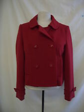 Ladies Coat - M&S, size 12, dark red, smart, BNWT, machine washable - 8252
