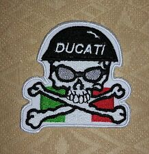 Ducati Corse Skull Italy Italia Biker Jacket Iron-on Embroidered Patch/ Logo