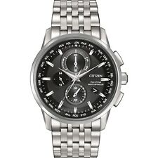 Citizen AT8110-53E Mens Atomic World Time Chronograph Eco-Drive Watch RRP $899