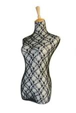 New Black Lace Fabric Halfbody Mannequin Cover Model Dummy Top Cover Dress