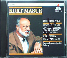 Kurt MASUR Signed TCHAIKOVSKY Symphony No.1 Winter Dreams Francesca da Rimini CD