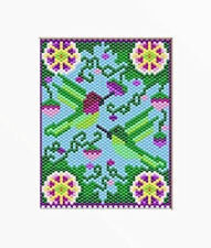 Ruby Throated Hummingbirds~Large Pony Bead Banner Pattern Only
