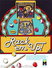 RACK EM UP By GOTTLIEB 1983 ORIGINAL NOS PINBALL MACHINE SALES FLYER BROCHURE