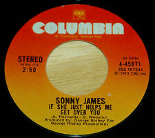 Sonny James 45 If She Just Helps Me Get Over You / I Won't Think About It Now