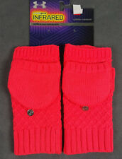 NWT UNDER ARMOUR WOMEN HOT PINK COFFEE RUN INFRARED KNIT GLOVE MITTEN SZ L/XL