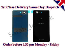 Sony Xperia Z3 Compact D5803 D5833  Battery back Cover Glass with Adhesive Black