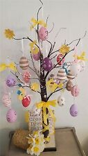Easter Tree With Lights - Brown 70cm Table Top Twig Tree - Pre-Lit with 24 LEDS