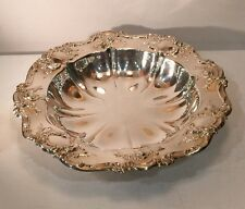 Silverplate Towle Round Plate Bowl Server Rose Design 11