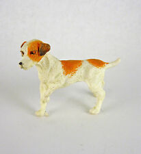 Dollhouse Miniature Jack Russell Dog w/ Paw Up, A3402