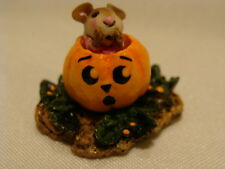 WEE FOREST FOLK SPECIAL COLOR EVENT ITTY BITTY PUMPKIN GIRL WITH SURPRISED FACE