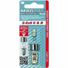 Maglite Replacement Bulb MAG-NUM STAR II Xenon Genuine Maglite Part C & D 2-Cell