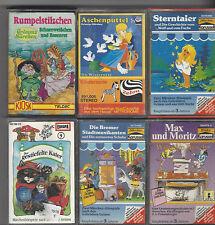 6 x Märchen Märchen Karussell,KIOSK,ZEBRA Kassetten alte Auflage Hörspiel Paket