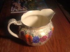 Johnson Brothers ENGLAND Gold & Handpainted Flowers PITCHER