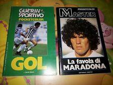 2 Pocket color Guerin Sportivo NO PANINI Master 1) MARADONA e 2) GOL 1984-85