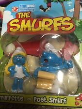 PLAY ALONG THE SMURFS SMURFETTE AND POET SMURF 2PACK ACTION FIGURE
