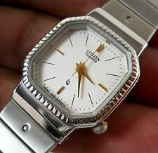 CITIZEN CQ QUARTZ VERY BEAUTIFUL DESIGNER SILVER DIAL STEEL LADIES LUXURY WATCH