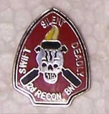Hat Lapel Push Tie Tac Pin USMC 2nd Recon Battalion NEW