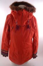 2015 NWT WOMENS BILLABONG JAMIE SNOWBOARD JACKET $265 S tangerine orange fur