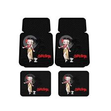 4pc Set Classic Betty Boop Hawaiian Aloha Car Truck Front Rear Rubber Floor Mats