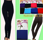 Spring/Fall Fashion Waist/Tummy Control Solid Thick Fleece Lined Leggings/Tight