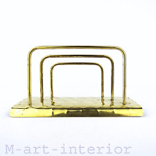 Art Déco Messing Briefhalter ○ Post-Bauhaus ○ brass letter holder 1940s-1950s