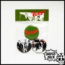 The Clash - The Clash Button Badge Pack - 3 x 25mm Button Badges