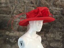 New Condici Hat In Flame Red - Wedding Cruise Special Occasion