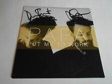"Papa  Put Me To Work/If You Are My Girl 7"" White Vinyl 45RPM Record Autographed"