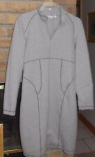 Athleta Zip Mock Collar Long Sleeve Dress - Light Gray - Size Large