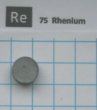 2.4 gram compressed Rhenium metal Pellet 99.96% - element 75 sample