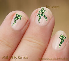 Trailing Ivy Leaf Spray, 30 Unique Designer Nail Art Stickers Decals flower