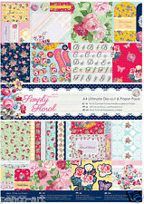 Papermania Ultimate A4 paper decoupage toppers tags 48 pk Simply Floral