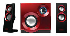 Sweex 2.1 Wired 3.5mm 60W Stereo Speaker Set for Desktop PC Laptops Mac - Red